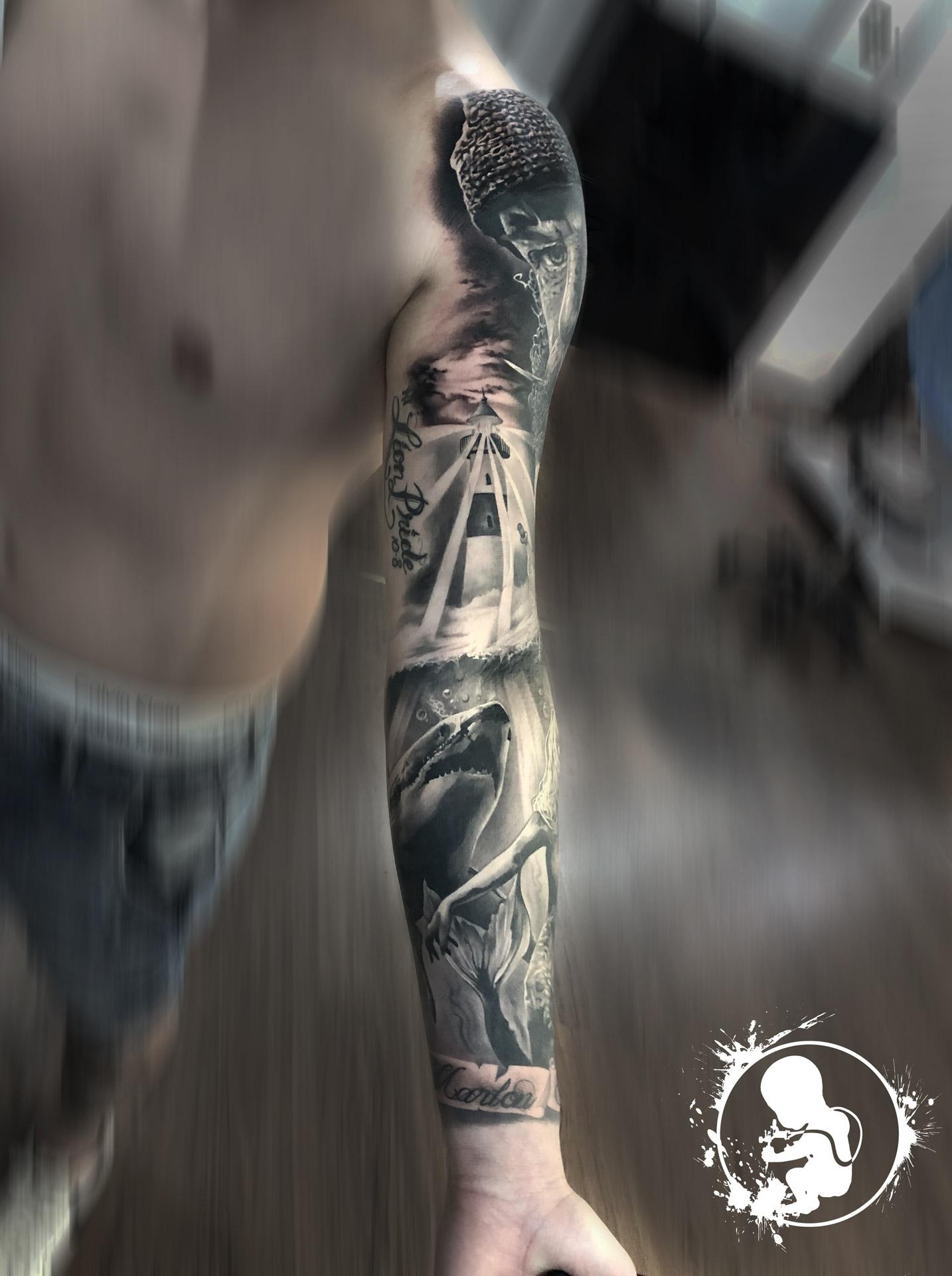 Mermaid Sleeve | Thomas | Newborn Tattoo Wolfratshausen