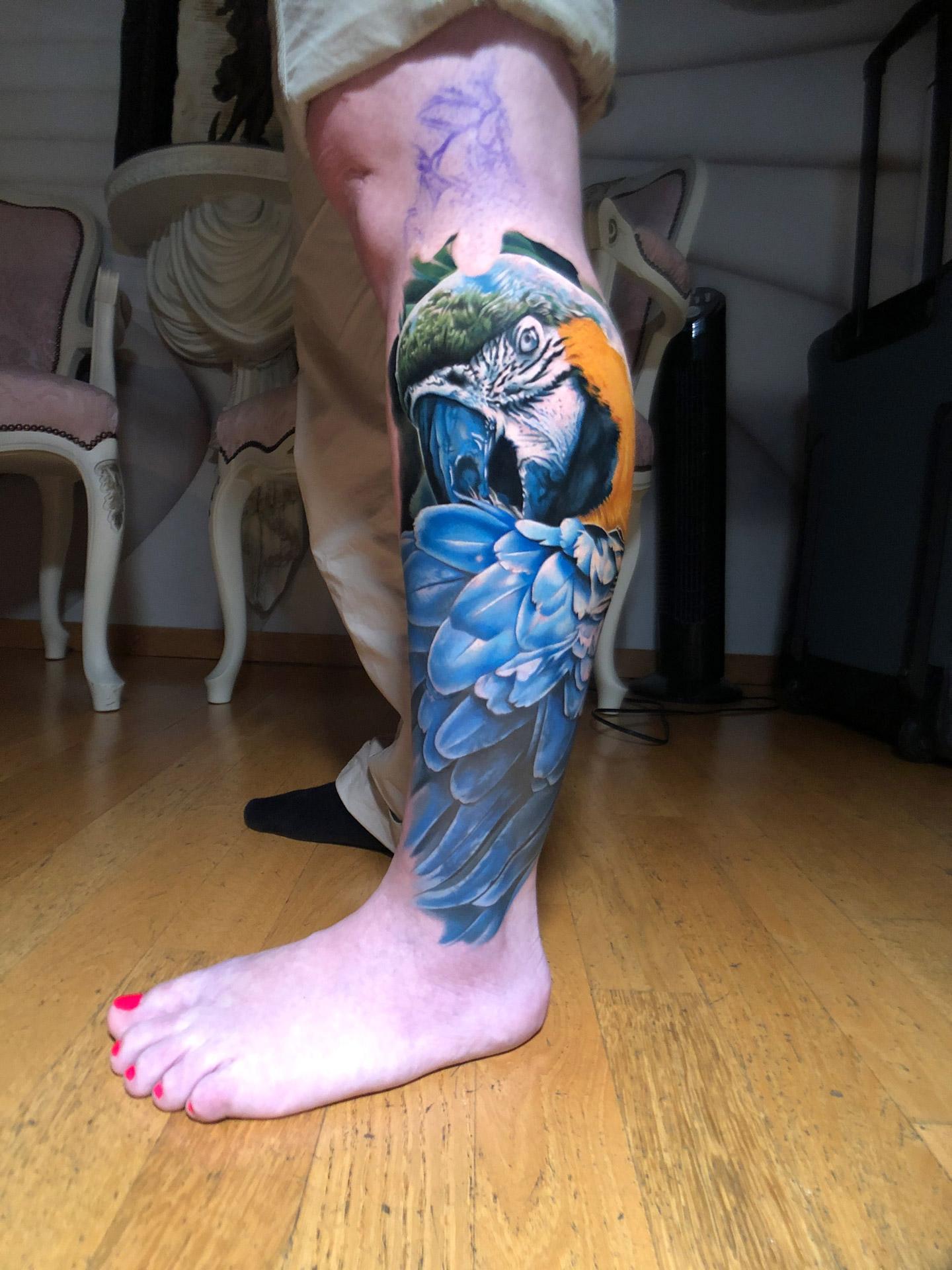 Papagei | Thomas | Newborn Tattoo Wolfratshausen