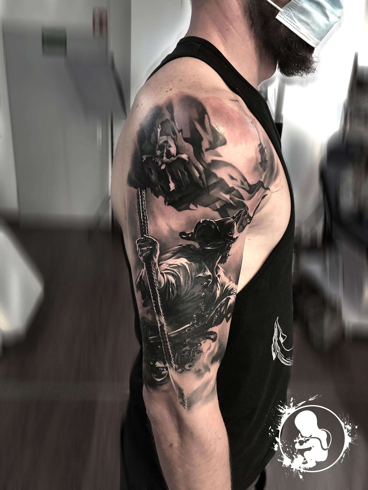 Pirat | Thomas | Newborn Tattoo Wolfratshausen