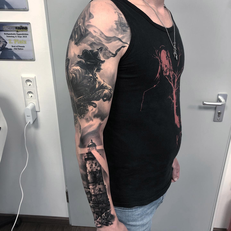 Piraten Sleeve | Thomas | Newborn Tattoo Wolfratshausen