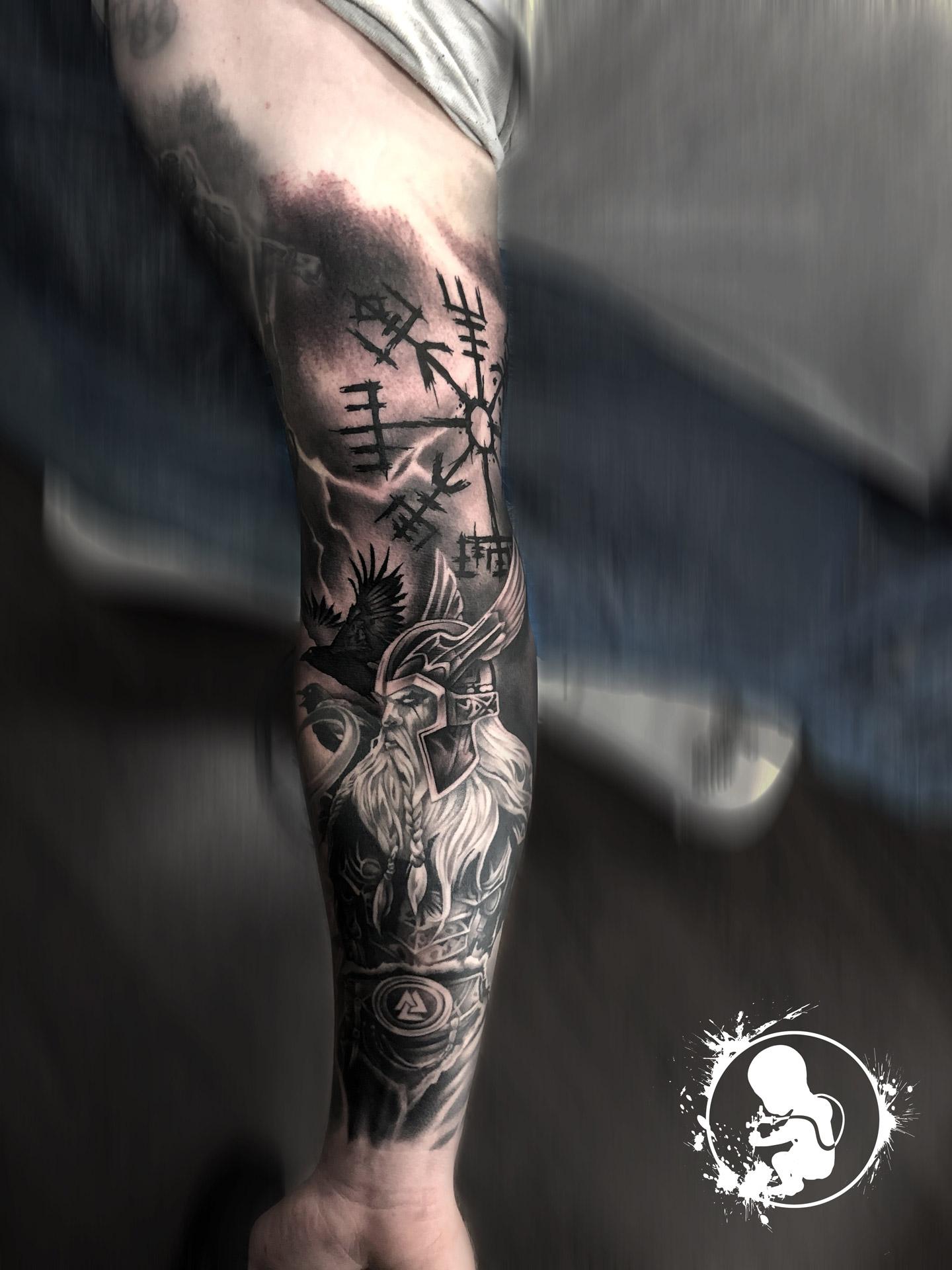 Vikinger Sleeve | Thomas | Newborn Tattoo Wolfratshausen