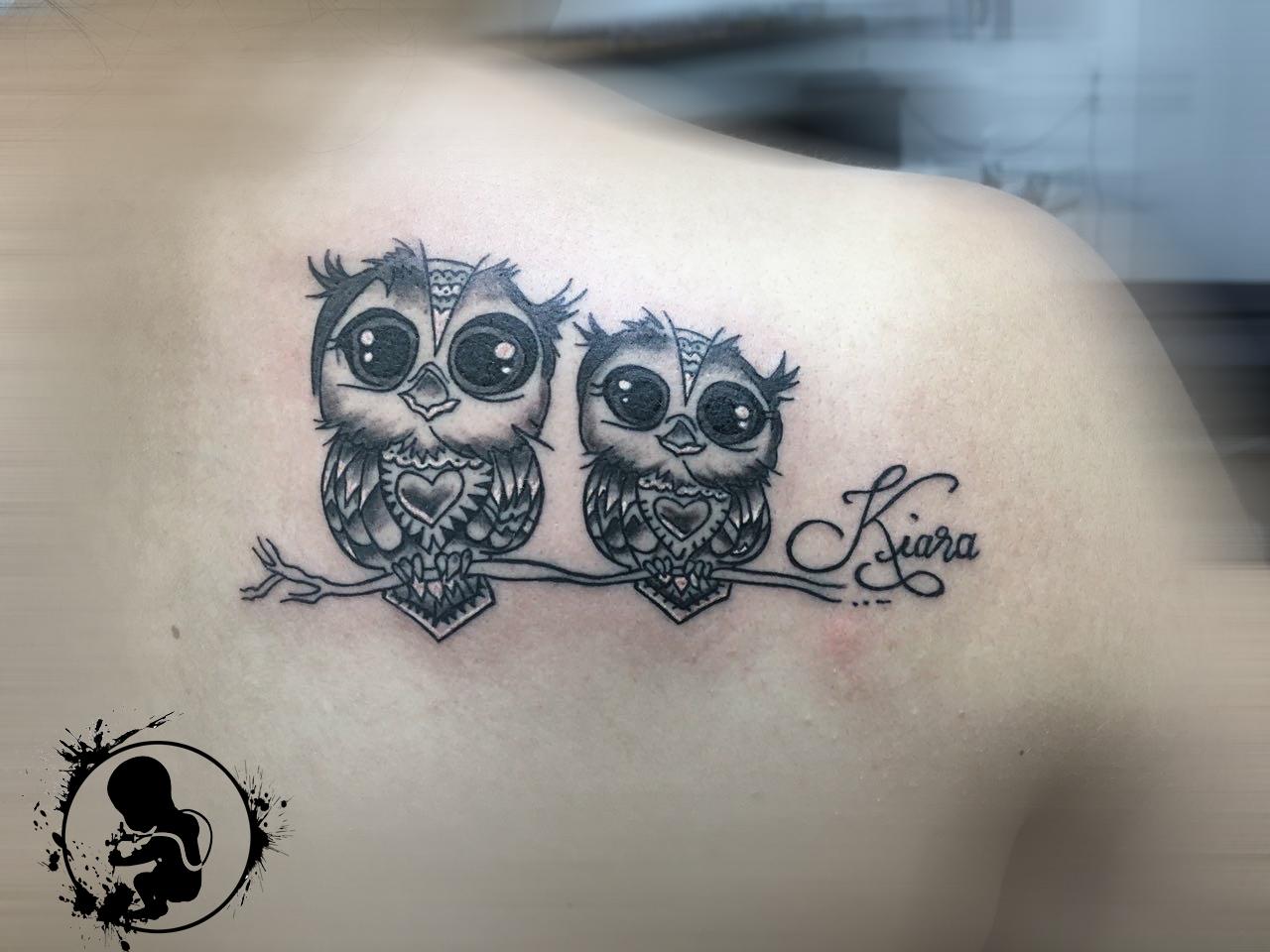 Eulen | Vanessa | Newborn Tattoo Wolfratshausen