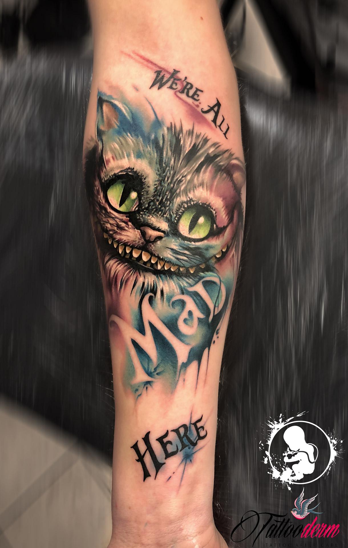 Grinsekatze | Thomas | Newborn Tattoo Wolfratshausen