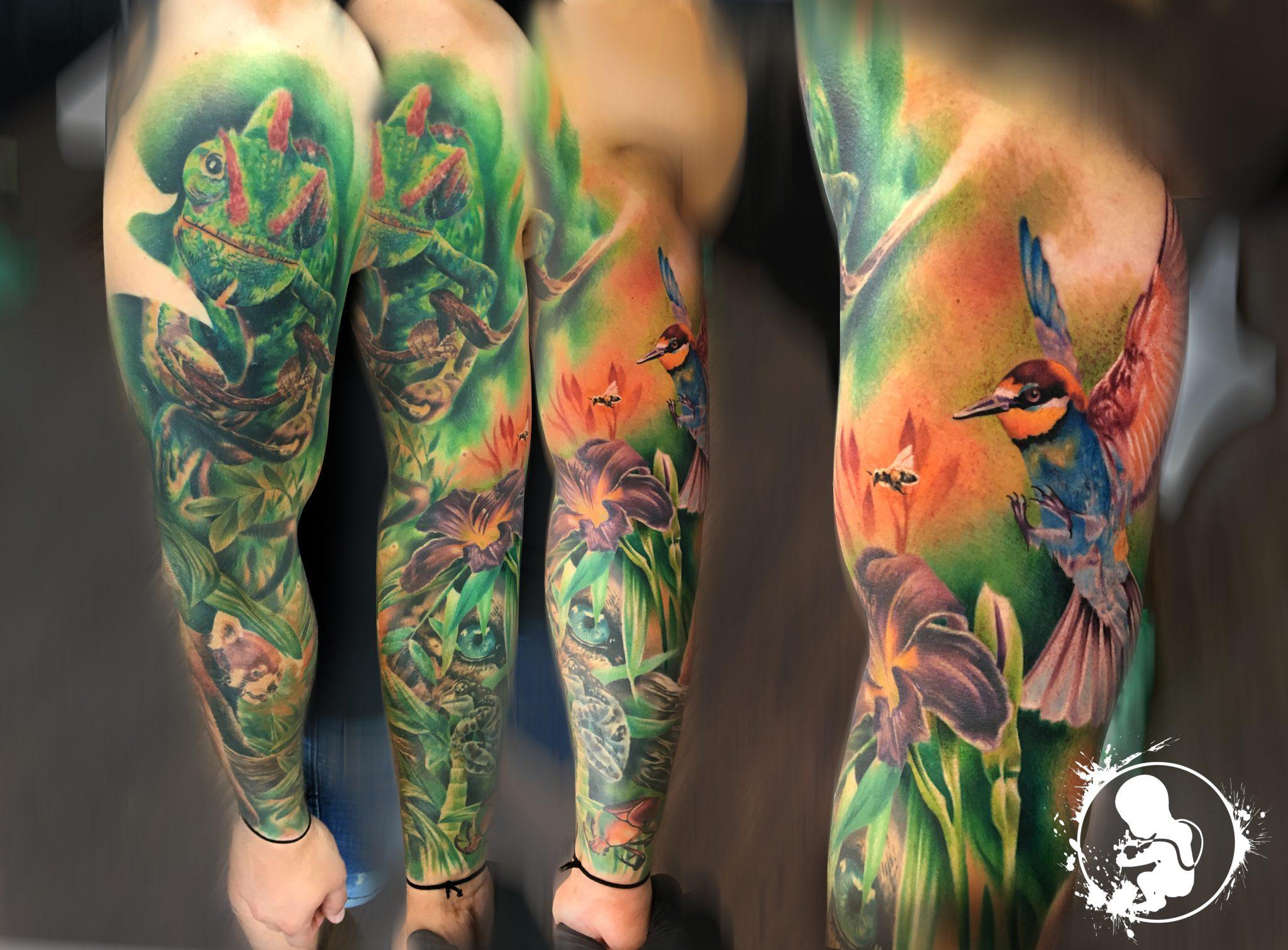 Sleeve | Thomas | Newborn Tattoo Wolfratshausen